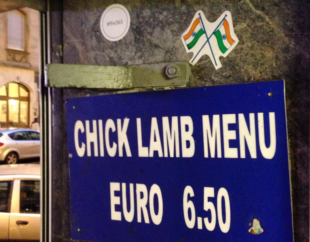 Chick Lamb Menu